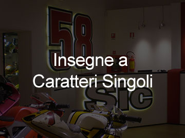 Insegne a lettere singole